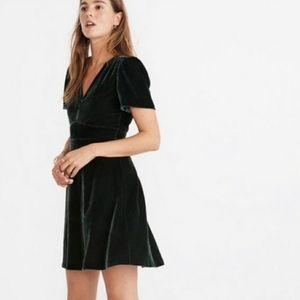 Madewell Velvet Mini Dress l NWT l SZ 00